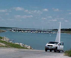 Boat launch on Canyon Lake